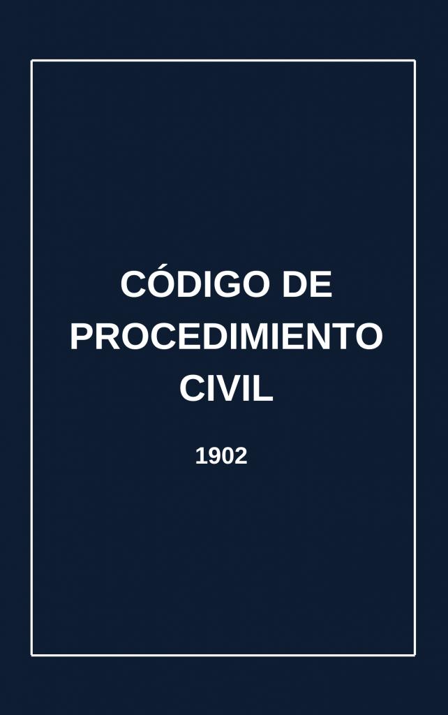 Código de Procedimiento Civil (1902)