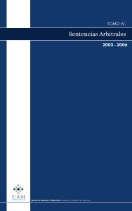 Sentencias Arbitrales – Tomo IV (2003-2006).