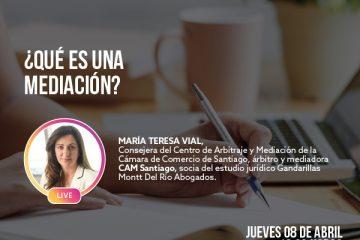 IG LIVE con Consejera del CAM Santiago, María Teresa Vial
