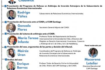 Conversatorio «Chile ante el CIADI: Hermanos Ríos contra la República de Chile»