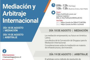 Webinar Mediación y Arbitraje Internacional