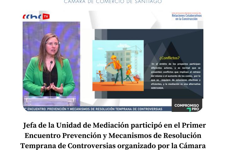 Jefa de la Unidad de Medición participó en el Primer Encuentro sobre Prevención y Mecanismos de Resolución Temprana